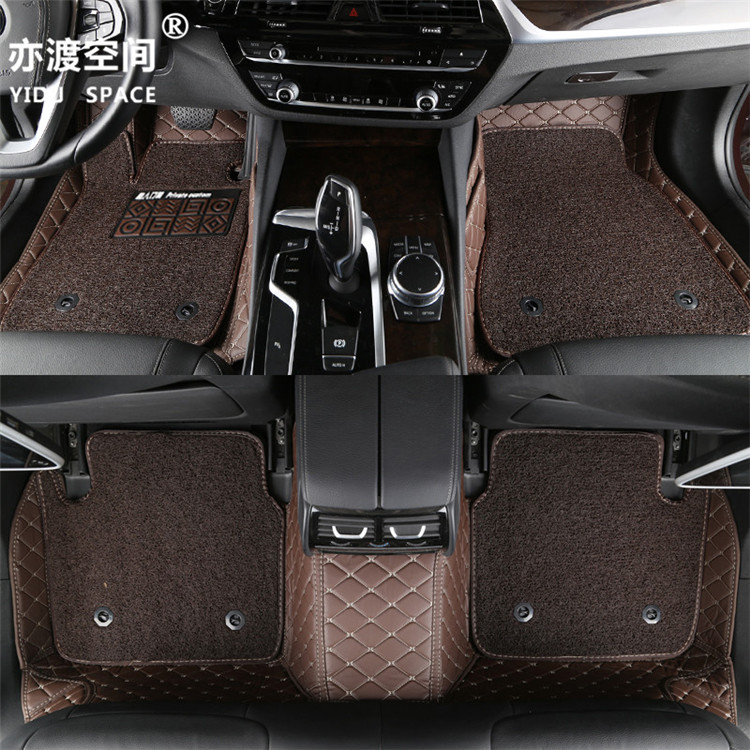 Fully enclosed 5D PU leather + wire ring car mat