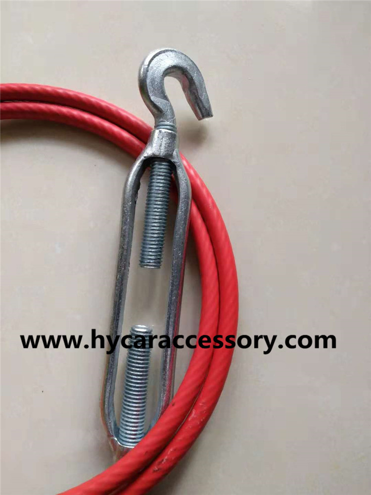 Truck compartment cable pull line high quality PVC rubberized stainless steel wire rope oily wire rope