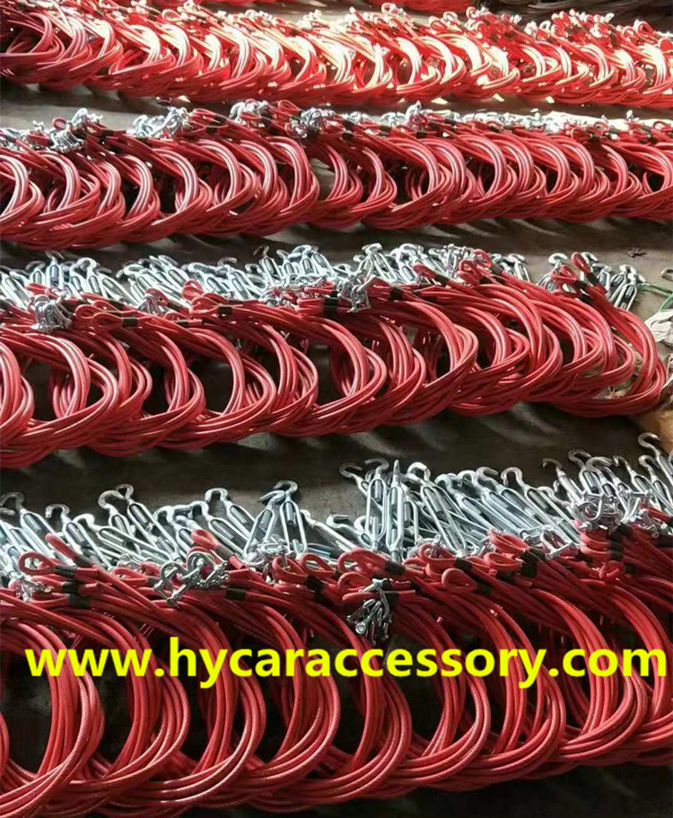compartment cable pull line high quality PVC rubberized stainless steel wire rope oily wire rope
