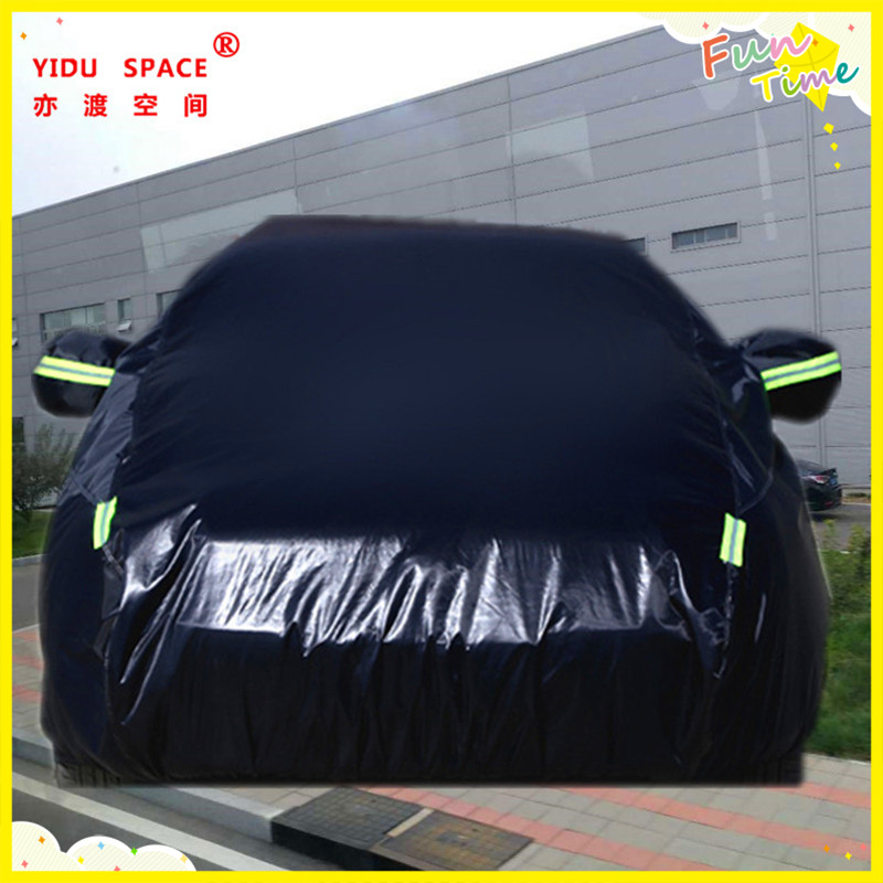 Four seasons universal black thick Oxford cloth car car cover mobile garage sun protection rainproof insulation car cover used ten years