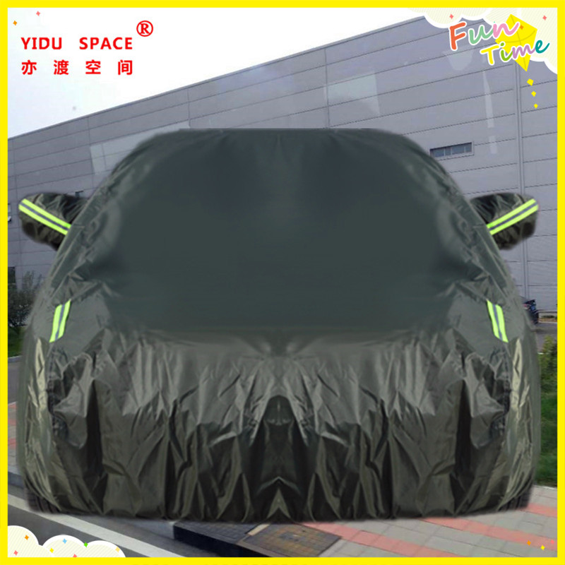 Four seasons universal car cover ArmyGreen thick Oxford cloth car car cover mobile garage sun protection rainproof insulation car cover used ten years