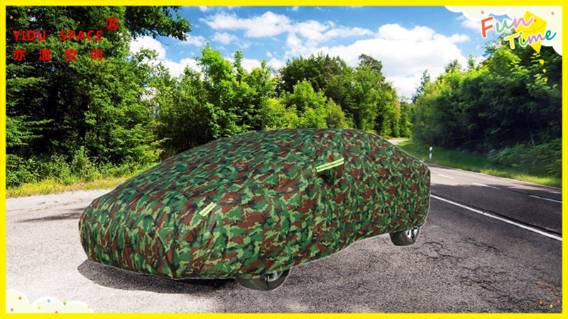 Four seasons universal Camouflage color thick Oxford cloth car car cover mobile garage sun protection rainproof insulation car cover used ten years