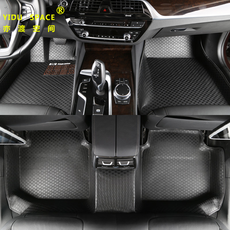 high quality Fully enclosed 5D PU leather black car mat car floor mat