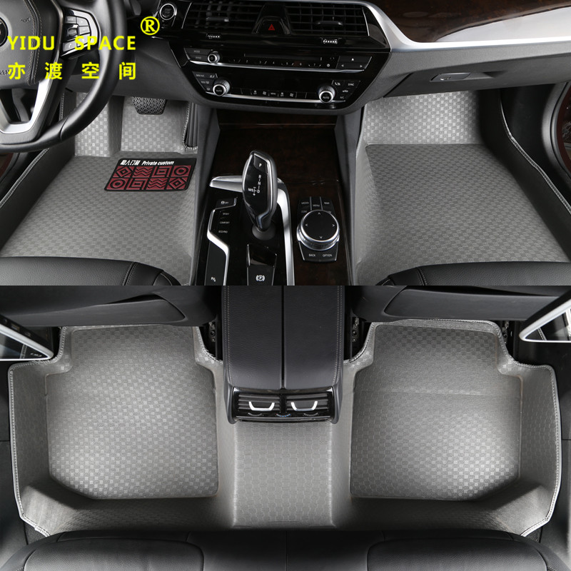 high quality Fully enclosed 5D PU leather gray car mat car floor mat