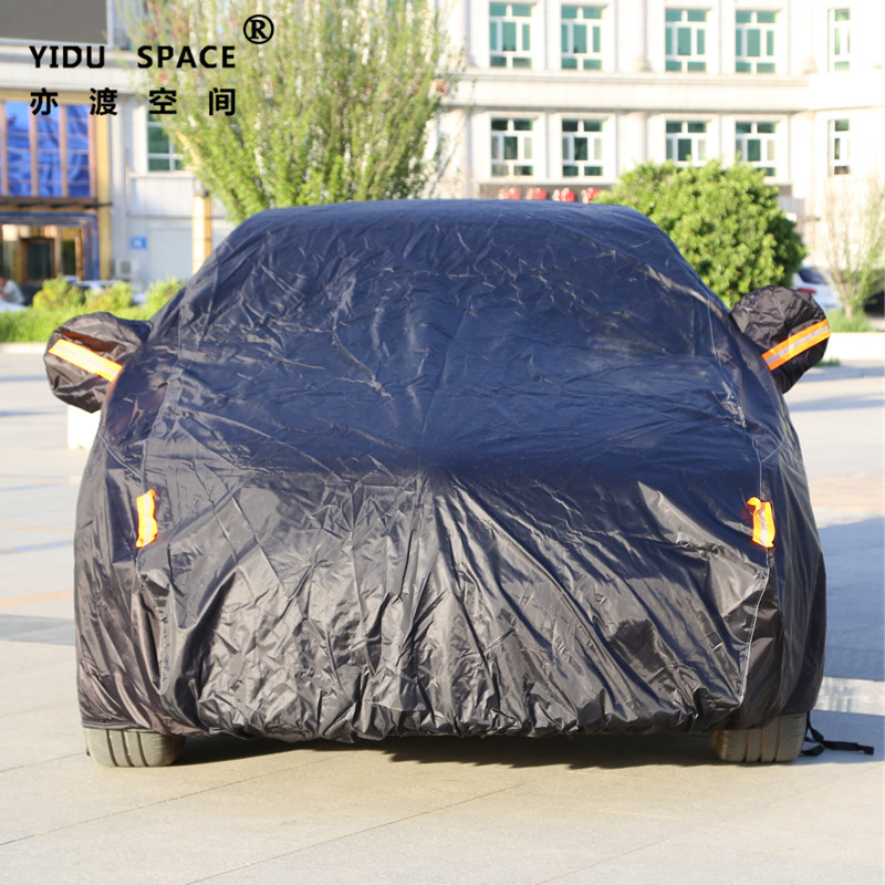 Four seasons universal black thick Oxford cloth car car cover mobile garage sun protection rainproof insulation car cover