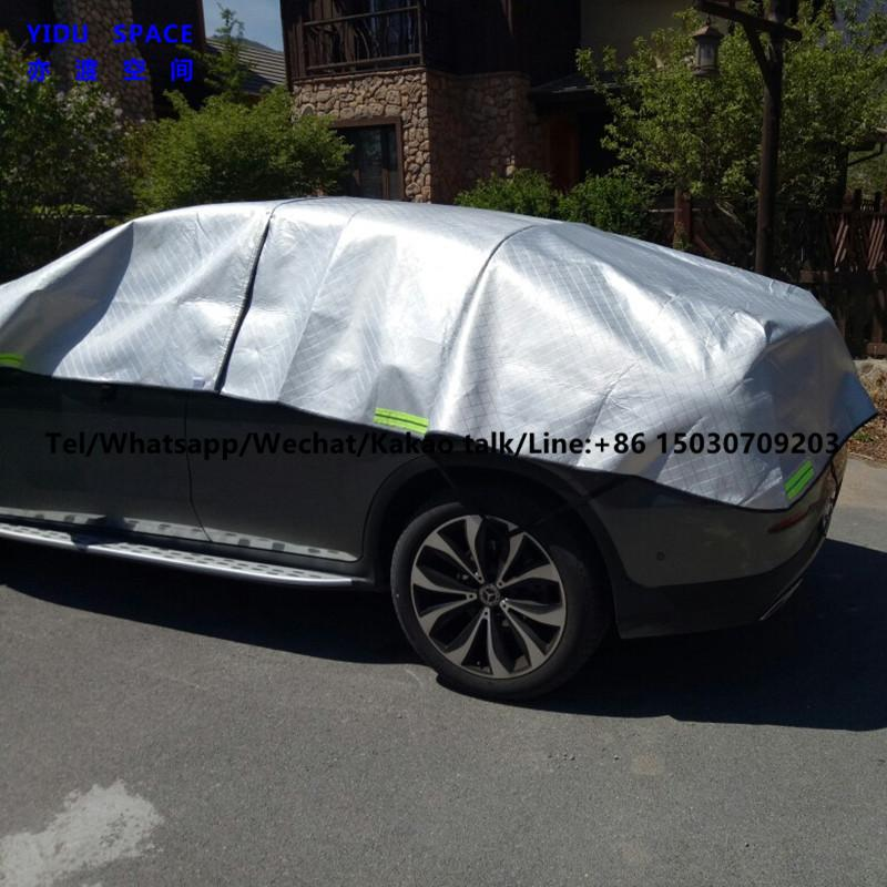 3 Layer Hail Protection Anti Snow Anti Ice Fast Padded Half Auto Car Cover