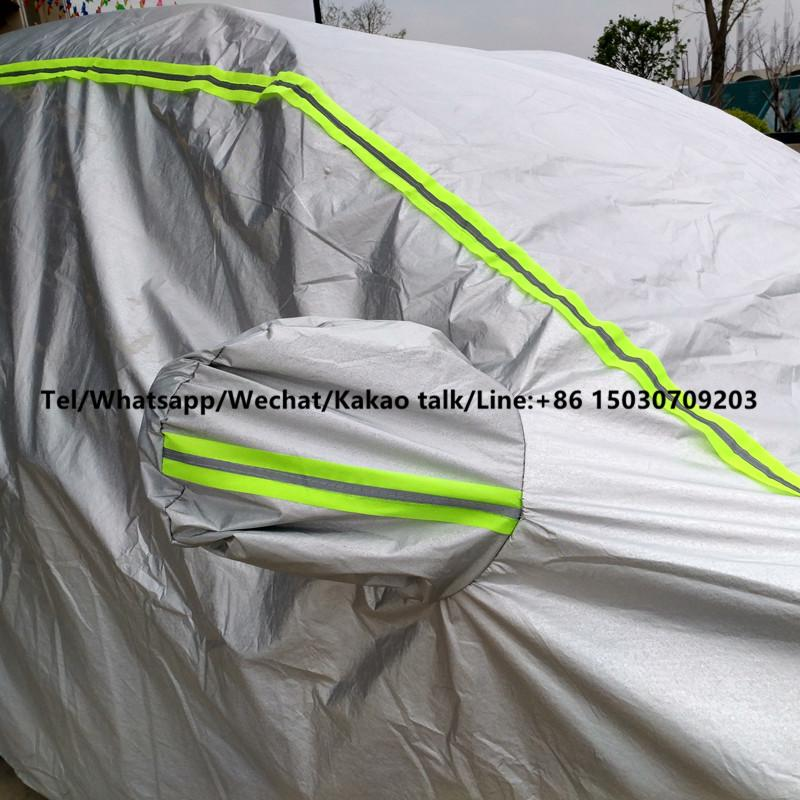 Wholesale Car Accessories Silver UV-Proof Waterproof Sunproof Full Auto Car Cover