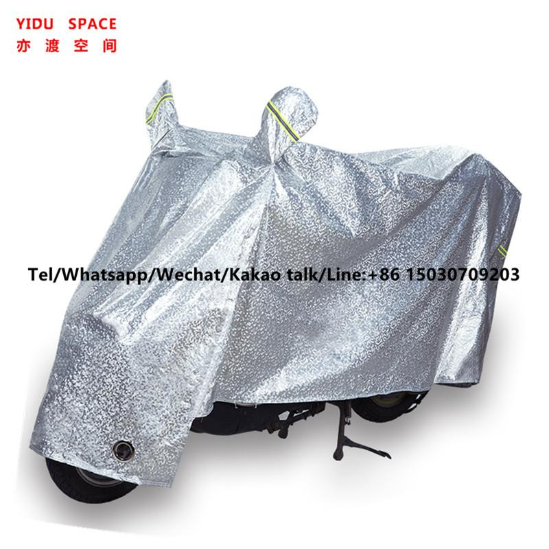 Motorcycle Decoration Motorcycl Accessory UV Protection Rainproof Sunscreen Snow Electric Bicycle Cover Silver Motorcycle Cover